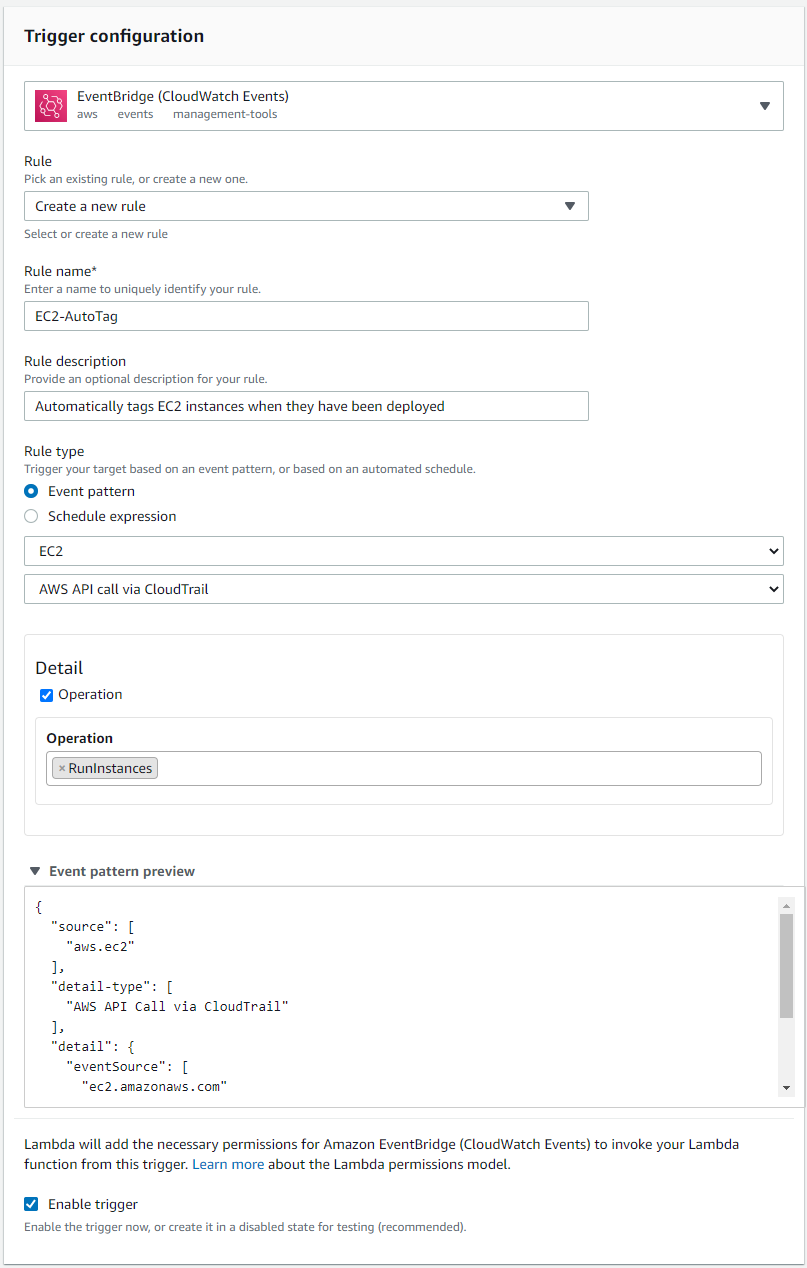Lambda Function Execution Role Policy